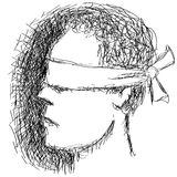 Blindfolded person Stock Image