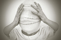 Blindfolded person Stock Photos
