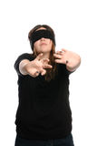 Blindfolded Teen Royalty Free Stock Images