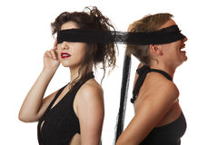Blindfolded Women Stock Photos