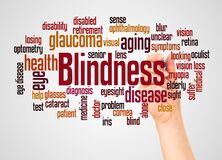 Free Blindness Word Cloud And Hand With Marker Concept Stock Photo - 184065770