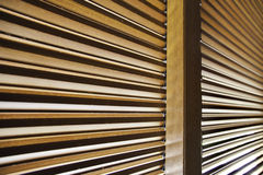 Blinds. Detail of wooden shutters blocking out the sun Royalty Free Stock Photography