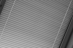 Blinds. A shot of window with the blinds down, black and white Royalty Free Stock Photo