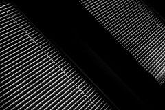 Blinds. A shot of window with the blinds down, black and white Royalty Free Stock Image