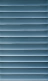 Blue Blinds. Rolled down, nice pattern Royalty Free Stock Image