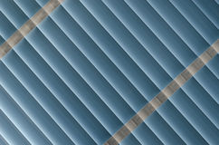 Blue Blinds. Rolled down, nice pattern Stock Image