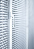 Blinds. Room decoration  with plastic sunblinds close up Stock Photos