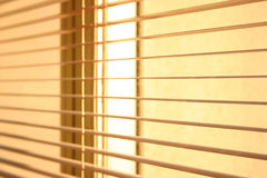Blinds. Close-up of a window blinds Stock Photography