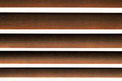 Blinds background. Abstract wooden horizontal blinds with selective focus Royalty Free Stock Photography