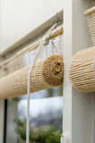 Blinds. In the conservatories. rolled up Stock Photo