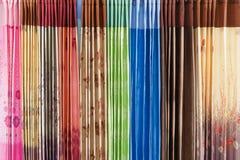 Blinds, curtains, drape multi color Stock Image