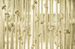 Blinds made ��of rope Royalty Free Stock Image