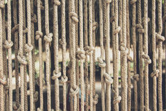 Blinds made of rope Royalty Free Stock Image
