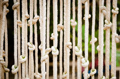 Blinds made ​​of rope Stock Images