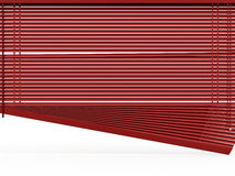 Blinds rendered on white Royalty Free Stock Images