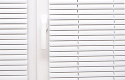 Blinds white for window Stock Image