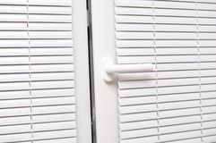 Blinds white for window Stock Images