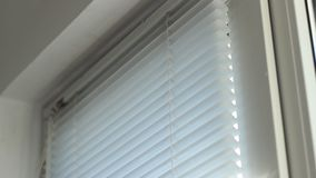 Blinds on Window stock video footage