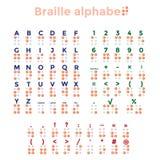 Blindskriftalfabet, interpunktion och nummer Royaltyfria Foton