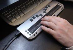 Blindskrifttangentbord Fotografering för Bildbyråer