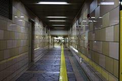 Blindway nella stazione della metropolitana fotografia stock libera da diritti