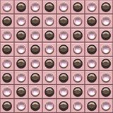 bling棕色小点粉红色的背景 库存照片