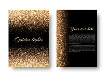 Bling background with glowing lights Royalty Free Stock Photography