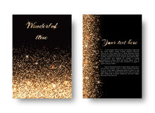 Bling background with gold lights Royalty Free Stock Photo