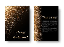 Bling background with golden light Stock Images