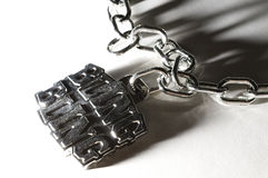 Bling Bling. Chain Link Necklace with Reflections and Shadow royalty free stock photography