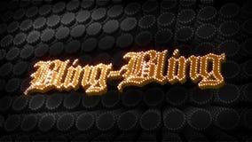 Bling-Bling Glitz Sparkle Text stock video