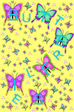 Bling and Butterflies Yellow Stock Photography