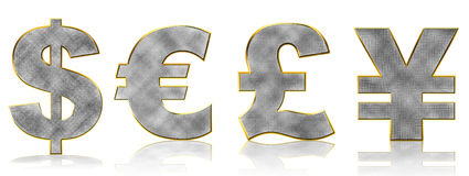 Bling Currency Symbols Royalty Free Stock Photo