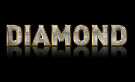Bling Diamond Text Stock Photos