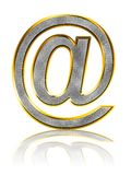Bling e-mail symbol Royalty Free Stock Image