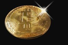 Bling bling en un bitcoin foto de archivo