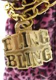 Bling Halskette Stockfoto