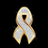 Bling Ribbon awareness Royalty Free Stock Photo
