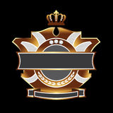 Bling shield crest stock photography