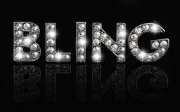 Bling sur le noir Photos libres de droits