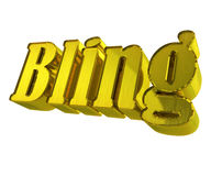Bling word 3D gold stock illustration