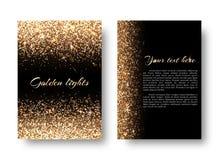 Blings-Hintergrund mit glühenden Lichtern Lizenzfreie Stockfotografie