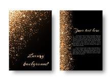 Blings-Hintergrund mit goldenem Licht Stockbilder