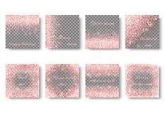 Blings roze achtergrond Stock Afbeelding