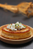 Blini with cottage cheese Royalty Free Stock Photos