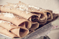 Blini pancake. Sweet idea for make to special dinner Stock Images
