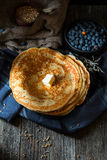Blinis, blintzes - thick russian crepes Royalty Free Stock Image