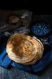 Blinis, blintzes - thick russian crepes Stock Image