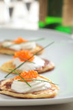 Blinis with caviar Royalty Free Stock Photography