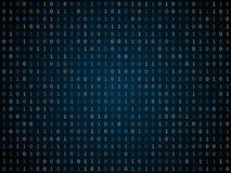 Blink binary code screen black Stock Images